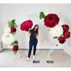 "Hexagonal wedding arch 85"""