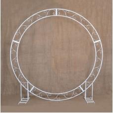 Circle wedding arch 100″