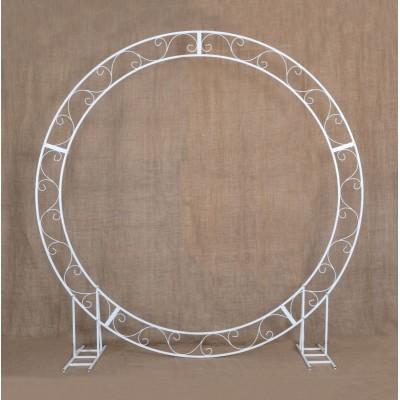 Circle wedding arch - metal frame 100″